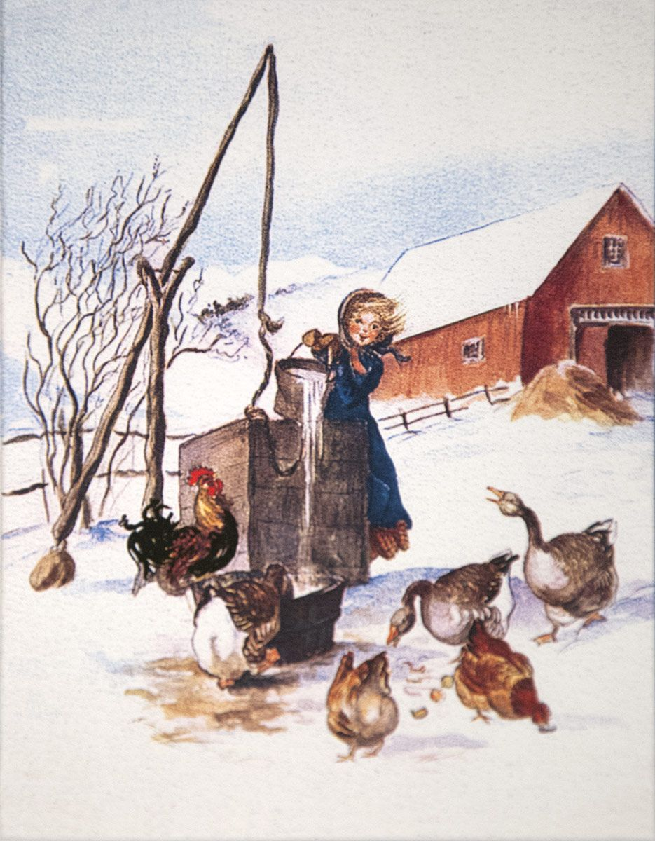 Caspari Boxed Christmas Card: Longings Fulfilled - Tasha Tudor and ...