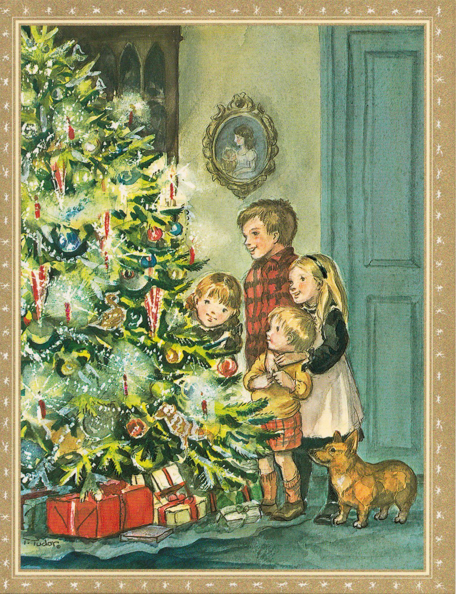 caspari single rare card christmas eve caspari_rare_single_card_christmas_eve_447374375 - Caspari Christmas Cards